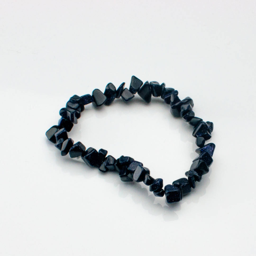 GoldStone (Blue) Chip Bracelet