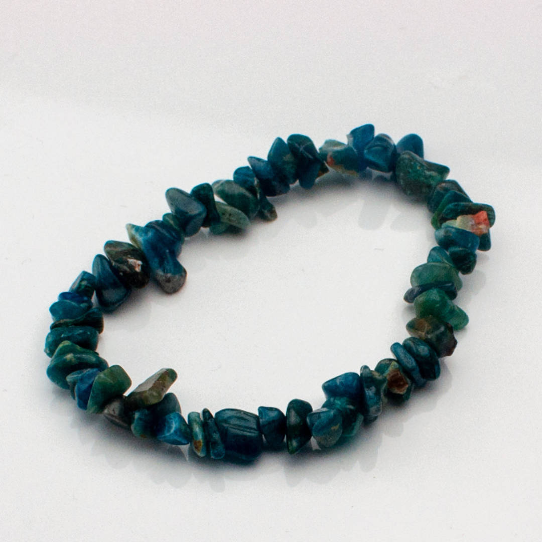 Beautiful Apatite Chip Bracelet