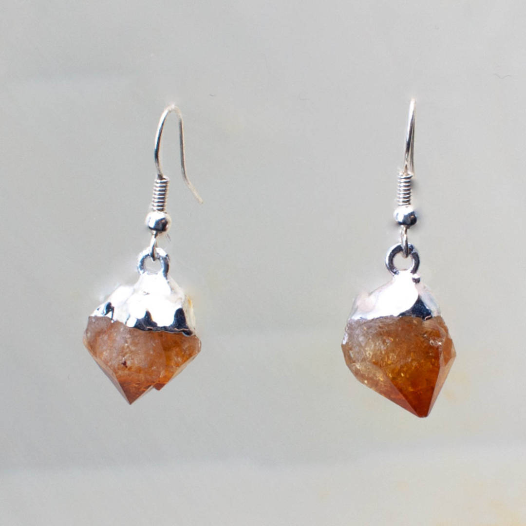 Citrine Rough Point Earrings
