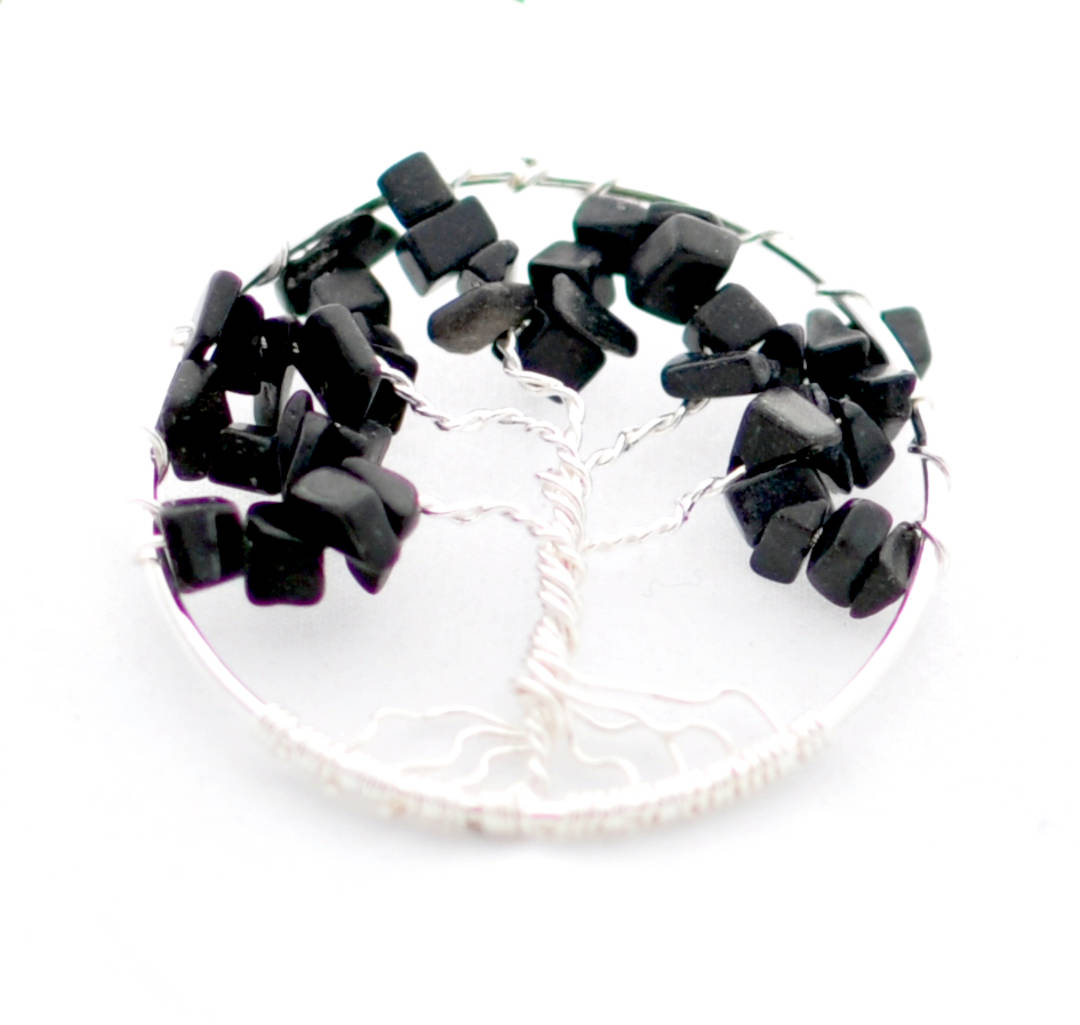 Pendant Tree of Life Obsidian