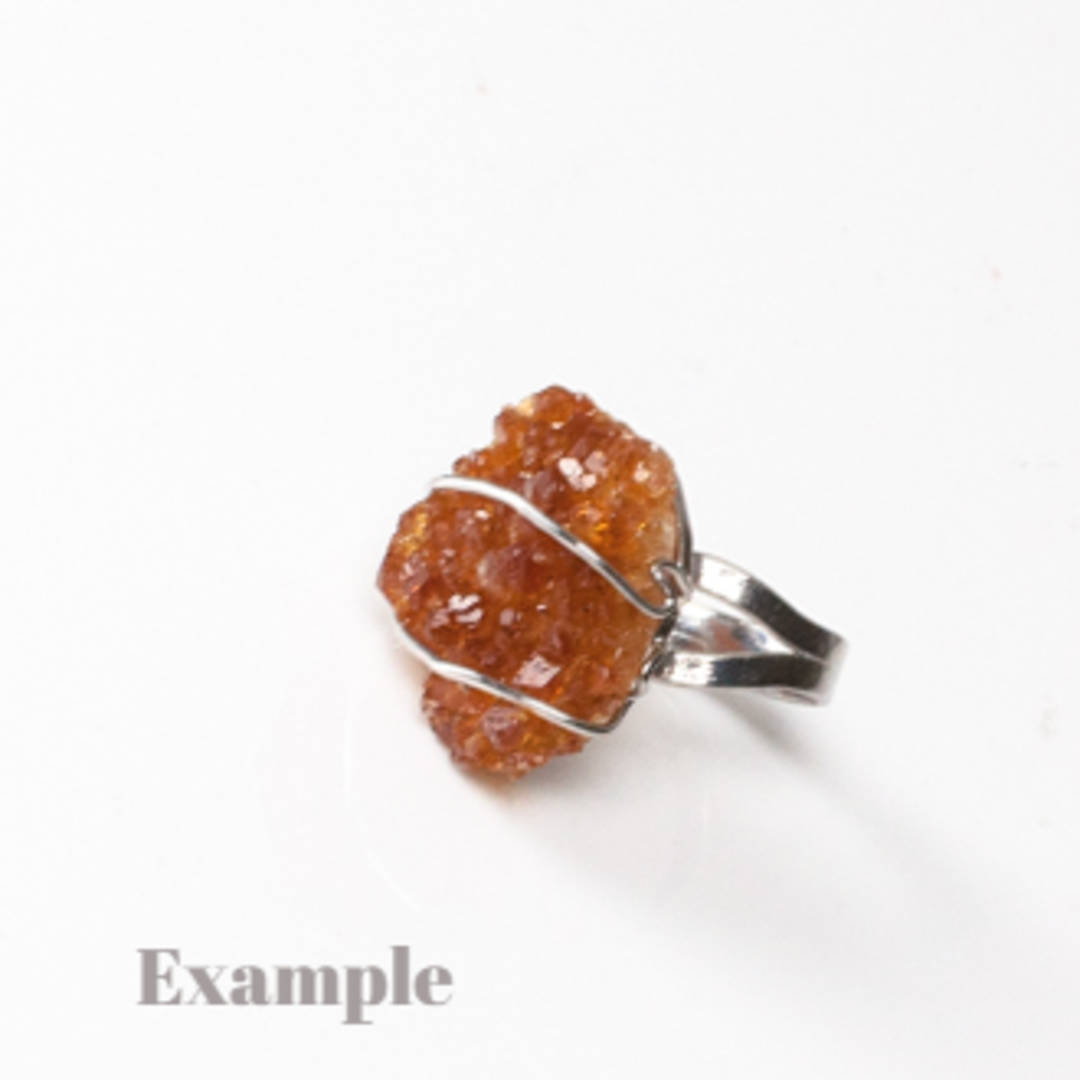 Raw Citrine Druze Ring