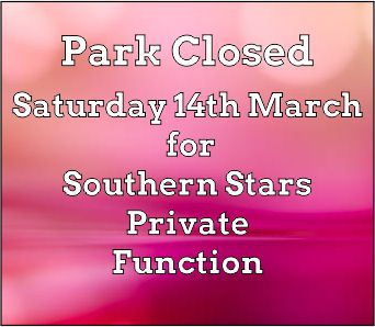 Park closed for Southern Stars