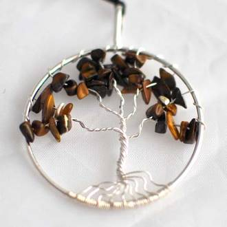 Pendant Tree of Life Tigers Eye