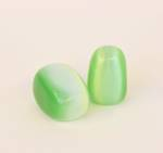 Cats Eye- Apple Green Tumbled